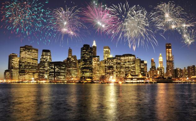 New York Winter Silvester Feuerwerk