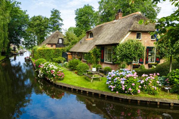 Niederlande Giethoorn Häuschen