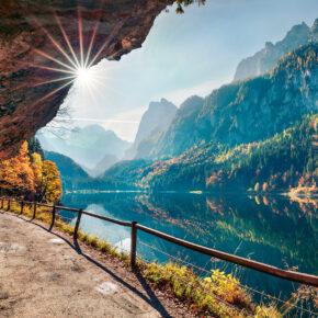 Österreich Gosausee Herbst bunt