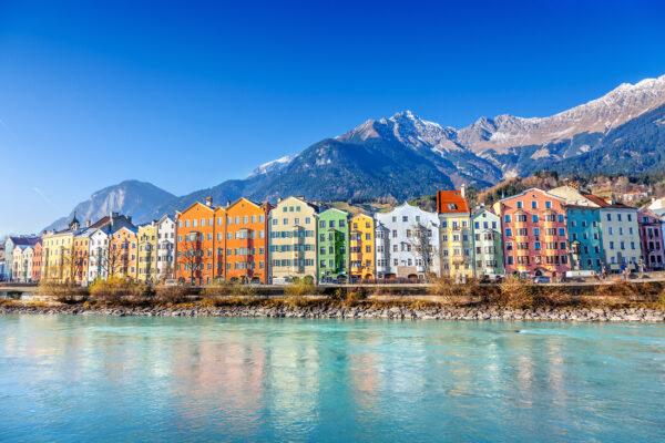 Österreich Innsbruck Häuserfront