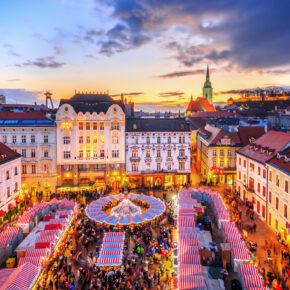 Wochenende in Bratislava: 3 Tage Slowakei im 4* Hotel mit Frühstück & Flug nur 66€