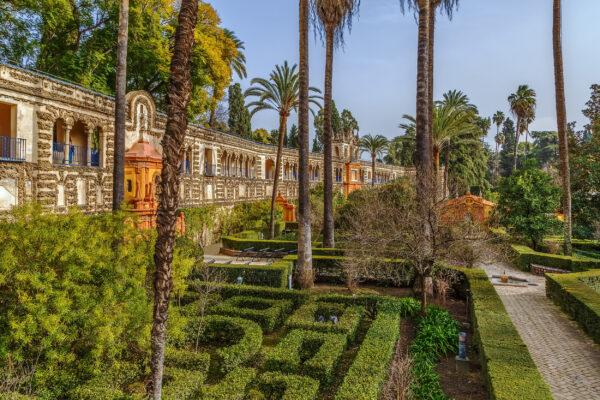 Spanien Sevilla Garten Labyrinth