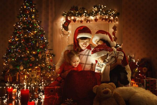 Weihnachten Familie Lichter