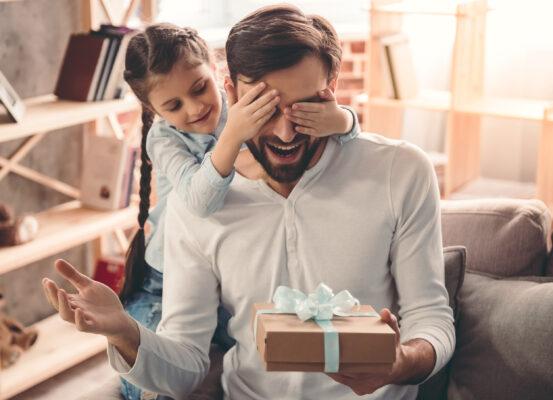 Weihnachten Geschenk Kind Vater
