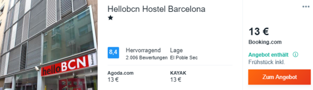 3 Tage Barcelona Hotel
