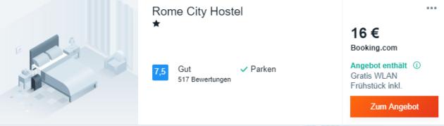 3 Tage Rom Hostel