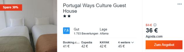 4 Tage Lissabon Hotel