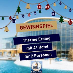 Gewinnspiel: Therme Erding inkl. Übernachtung im 4* Hotel mit Frühstück für 2 Personen