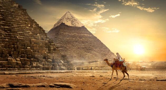 Ägypten Pyramide Sonnenuntergang