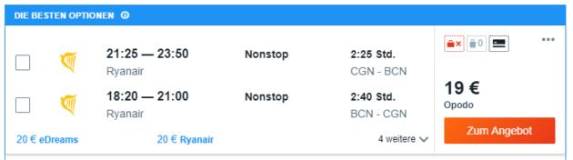 BCN Flug Angebot