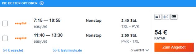 Flug Berlin Prevesa