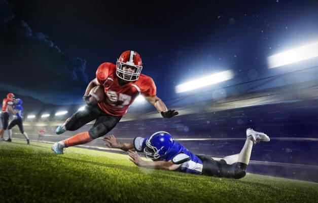 Football Spieler Fall
