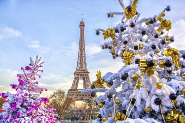 Frankreich Paris Eiffelturm Fruehling