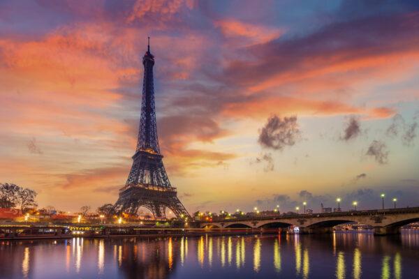 Frankreich Paris Eiffelturm Lichter