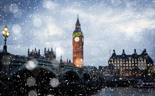 Großbritannien London Schnee