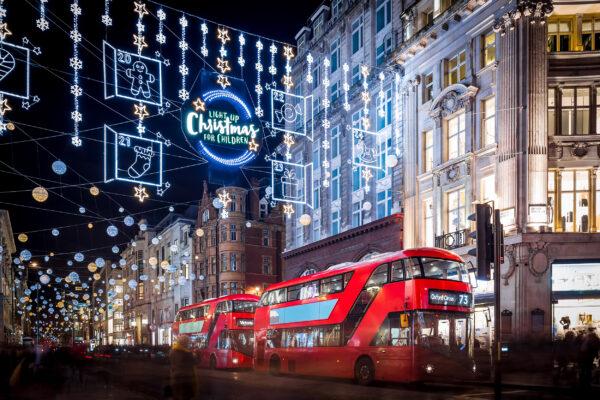 Großbritannien London Weihnachten Beleuchtung