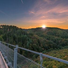 Wochenendtrip: 2 Tage nahe der Hängeseilbrücke Geierlay mit Unterkunft und Frühstück nur 22€