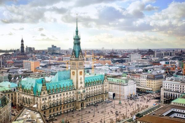 Hamburg Rathaus oben
