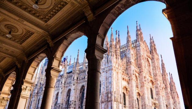 Italien Mailand Dom Torbogen