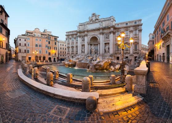 Italien Rom Trevi Brunnen Lichter