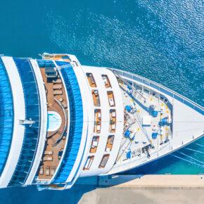 Kreuzfahrt Schiff Oben