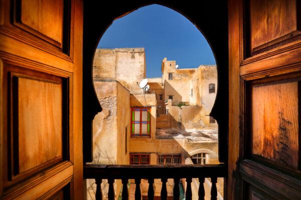 Marokko Fes Balkon Fenster