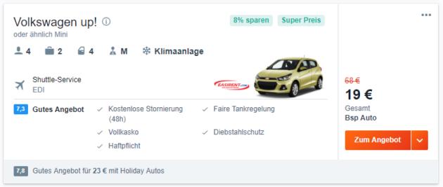 MIetwagen Deal