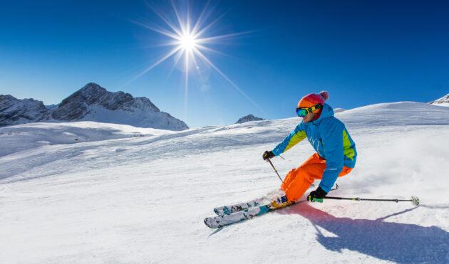 Skifahren Sonnenschein