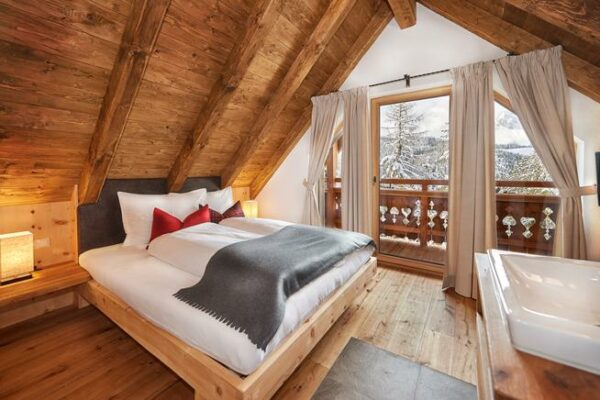 St Martin Chalets Schlafzimmer