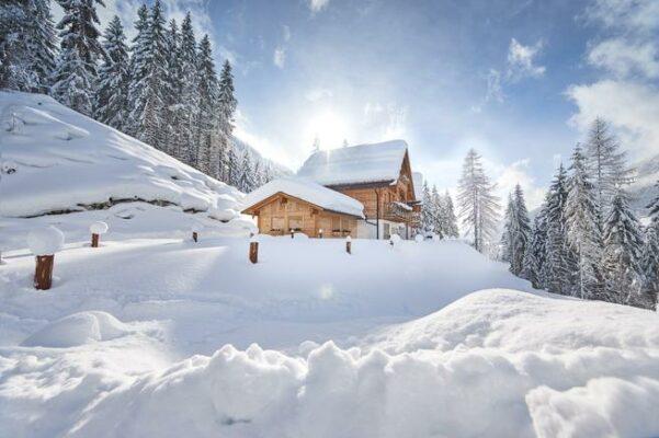 St Martin Chalets Schnee
