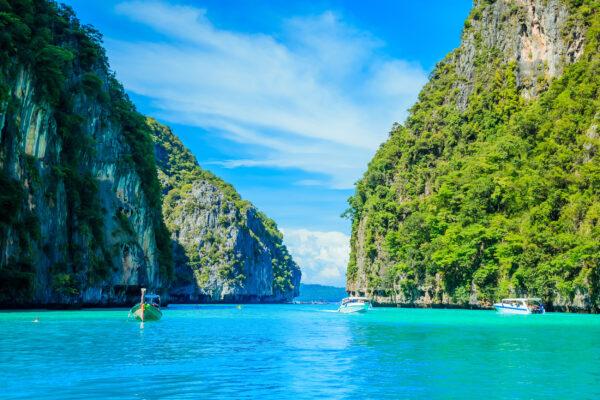 Thailand Krabi Meer Felsen