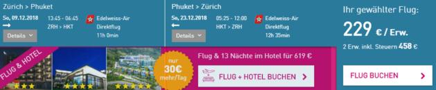 Zürich nach Phuket