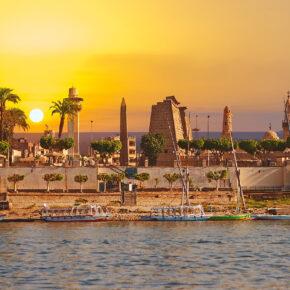 Ägypten Luxor Nil Fluss