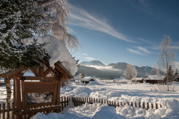 Österreich Kärnten Schnee Berg