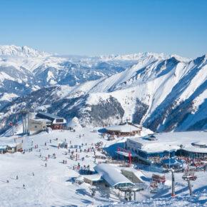 Österreich Kitzsteinhorn Gletscher Skigebiet