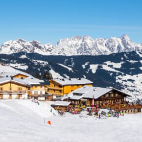 Österreich Saalbach Leogang Skipiste