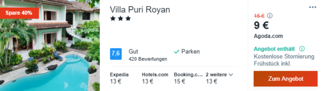 15 Tage Bali Hotel
