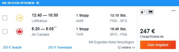 Frankfurt nach SFO