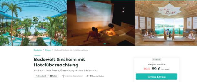 2 Tage Badewelt Sinsheim