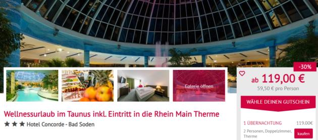 2 Tage Rhein Main Therme