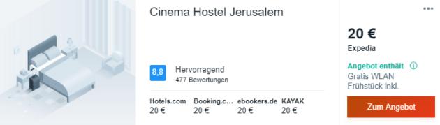 4 Tage Jerusalem Hotel