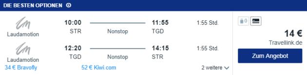 8 Tage Montenegro Flug