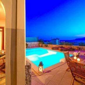 Luxus auf Kreta: 8 Tage im eigenen Ferienhaus mit Pool & Meerblick für 72€