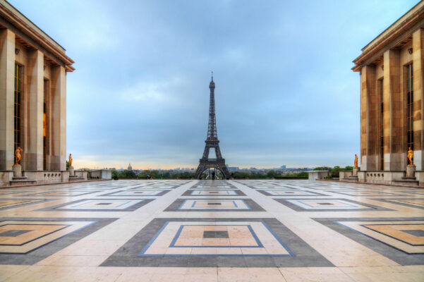Frankreich Paris Frühling Trocadeo