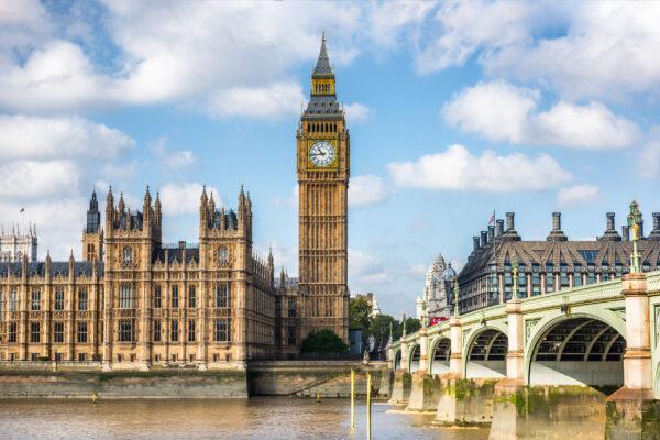 Großbritannien London Frühling Big Ben