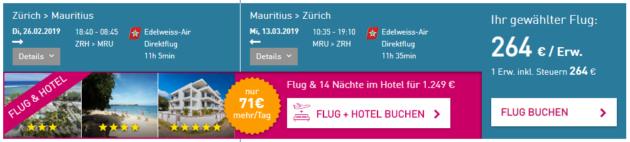 Zürich nach MRU