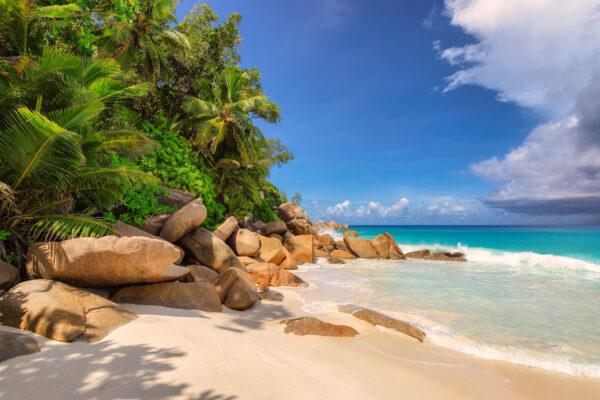 Seychellen Praslin Strand