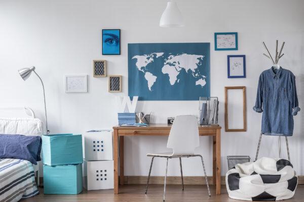 Weltkarte Büro