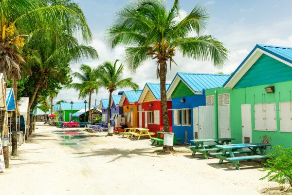 Barbados Häuser bunt