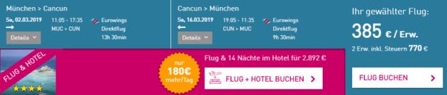 Cancun Flüge
